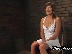 Tied up babe with spread legs pussy deep fisted and ass wired and hard whipped tube porn video