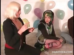College sexparty with girls playing truth or dare tube porn video