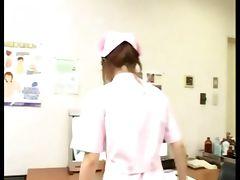 Dirty japanese nurse gives hot handy