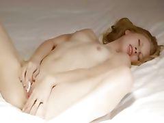 Beauty with petite tits masturbate pussy