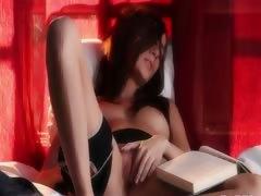 lesbians brunett have solo action tube porn video