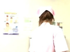 Dirty japanese nurse gives hot handy tube porn video