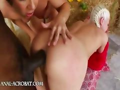 Brutal ass threesome with cowboy tube porn video