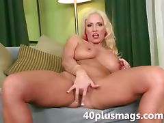 Introducing a busty blonde mature tube porn video
