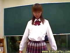 Bukkake loving asian schoolgirl hottie
