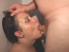 Brunette Amateur Girl Gets Face Fucked In Glory Booth