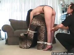 Tied Belle Donielle bondage and ass part3