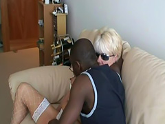 Old MILF play with black guy sperm tube porn video