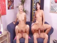 Exquisite Czech foursome on the couch tube porn video