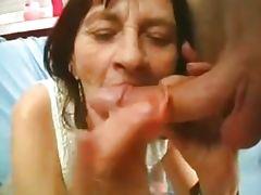 Mature with big tits fucks