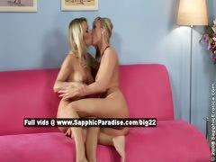 Salma and Karie lovely lesbo girls fingering