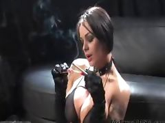 Vicky Smokes A Cock And A Vs120 bdsm bondage slave femdom domination