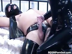 Horny kinky couple in latex have good part2 tube porn video