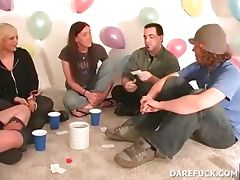 College teens play truth or dare at a sexparty