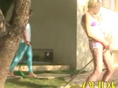 Sweet babysitters flashing the village tube porn video
