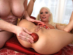 Super hot big cock interracial anal destruction of Jayda Diamond