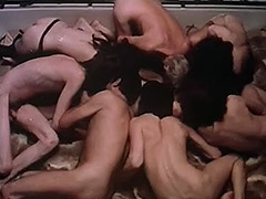 Gentleman in a Cool Group Sex Orgy 1970