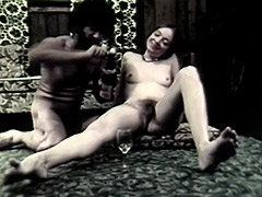 Blowjob and Anal Sex with Champagne 1960 tube porn video