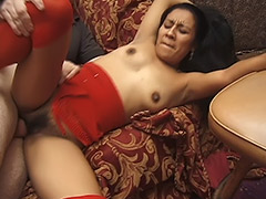 Latin Brunette with Hairy Beaver gets some Nice Hairy Pussy Licking and Her Furry Bush is Also Being Fucked Hard tube porn video