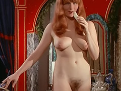 Busty Redhead Girl's Hairy Cunt Fucked in Bed 1960 tube porn video