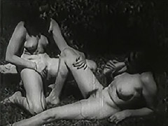 Two Women Eat Pussy Outdoors 1930s 1930