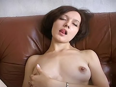 Russian Student Girl Doesn't Have a BF so She Masturbates Her Hairy Pussy with a Vibrator