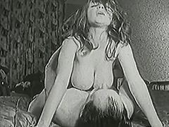 Busty Shaved Babe Fucked Twice with a Creampie 1950 tube porn video