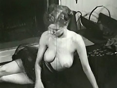 Sexy Topless Mature Babe Smoking 1950 tube porn video