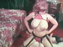 Busty Lesbians Fighting and Masturbating 1970
