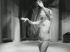 Blonde Dancer Shows off Her Curves 1950