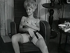 Delightful Woman Poses and Masturbates 1950 tube porn video