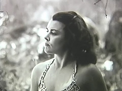 Woman Has a Good Time with Herself in Nature 1950