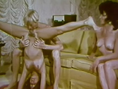 Lesbian Babes Love to Taste Each Other 1960 porn tube video