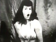 Brunette Beauty Dances in Lingerie 1950