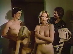 Swingers Convince a Girl to Enjoy Group Sex 1970 tube porn video