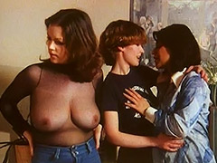 Three Lesbians in Golden Shower Action 1970 tube porn video