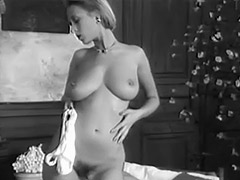 Charming Busty Girl Dance Striptease 1960