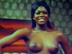 Ebony Babe Teases Us with Her Charms 1950 tube porn video