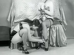 2 Lesbians Playing Fetish Games 1950
