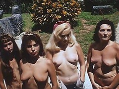 Nudist Colony Role playing Aliens and Astronauts 1960 porn tube video
