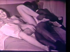 Interracial Couple Has Sex with No Borders 1960 tube porn video