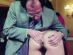 Girl being Teached real Anal Sex 1960 tube porn video