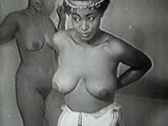 Vintage, Classic, Ebony, Gangbang, Group, Interracial