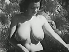 Clara Enjoys Her Big Boobs Outdoors 1950 tube porn video