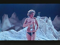 Woman Astronaut Stripteases on the Moon 1960
