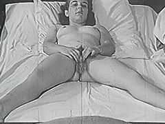 Chick Dreaming of Amazing Fucking in Bed 1950