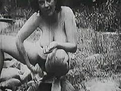 Old fashioned Group Sex Outdoors 1950