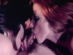 Two Horny Girls Crave Cock Threesome 1970