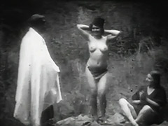 Girls Naked Dancing for an Old Man in Woods 1910 tube porn video