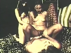 Hairy Threesome with Lots of Fucking 1970 tube porn video